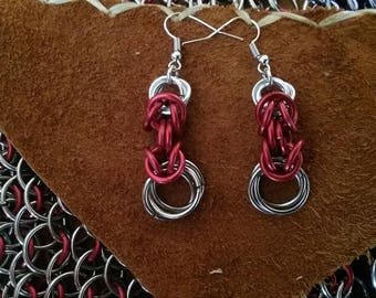 Red Byzantine Earrings