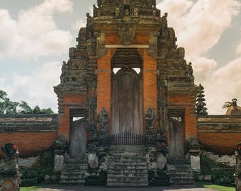 Temple Photo Bali, Large Wall Decor, Landscape Photography, Contemporary Art, Photos on Wood, Sunset Photography