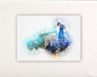 Peacock - Watercolor prints, watercolor posters, nursery decor, nursery wall art, wall decor, wall prints | Tropparoba - 100% made in Italy
