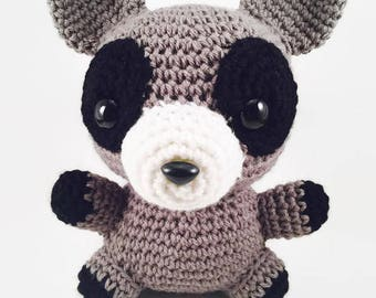 Raccoon Crochet Amigurumi Stuffed Animal Plushie