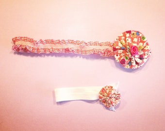 Poppy headband and ponytail elastic