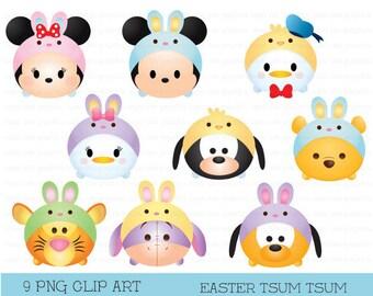 Tsum tsum clipart, easter clipart, tsum tsum graphic, disney tsum tsum, tsum tsum easter clipart, party, easter, printable, easter tsum tsum