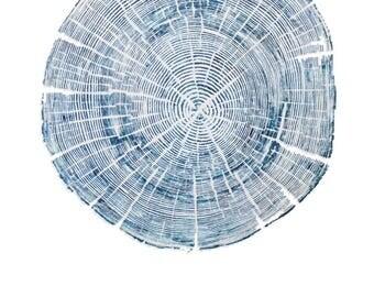 Handmade Wood Block Print - Dunbar Wharf