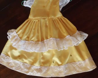 Yellow princess dress for costume