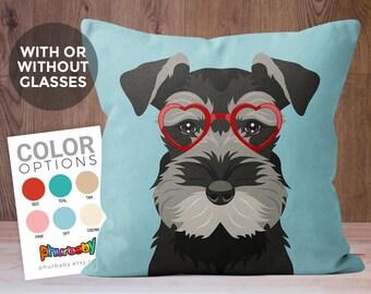 Miniature Schnauzer Pillow | Dog Pillow | Pet Gift | Wife Gift | Decorative Pillow | Gift For Him | Dog Gift | Dog Gift | Pet Pillow