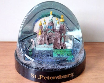Souvenir. Pencil. snow ball c sequins (The Cathedral of our Savior on spilled Blood). Saint Petersburg, Russia.