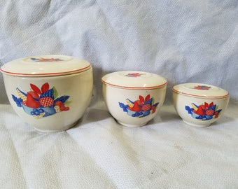 Vintage Calico Fruit Set