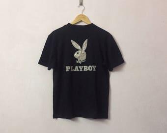 SALE ! Vintage PLAYBOY Tshirt nice big logo embroidery logo