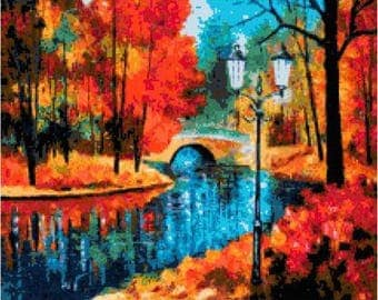 Arbor Waterway Cross Stitch Chart