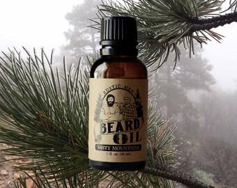 Beard Oil - Beard Conditioner - Rustic Men MISTY MOUNTAINS - 1 oz - Beard Grooming - Beard Care - Beard Gifts - Beard Growth - Beard Product