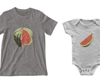 Watermelon + Slice Mama & Baby Set