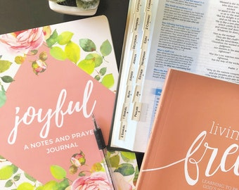 Joyful | Prayer Journal | Christian Gifts | Baptism Gift | Journal | Scripture Journal | Bible Study | Unique Gifts | Gifts for Her