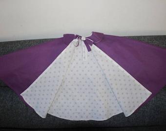 Purple cotton costume kids Cape / star