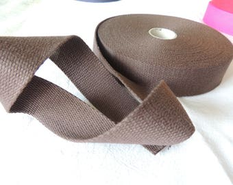 Strap bagagere cotton Brown width 30 mm