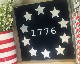 Wooden 1776 Sign