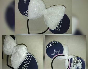 FREE SHIPPING * Dallas Cowboys Mickey Ears, NFL, Mouse Ears, Disney Ears, Mickey Mouse, Minnie Ears, Minnie Mouse, Texas, costume, football