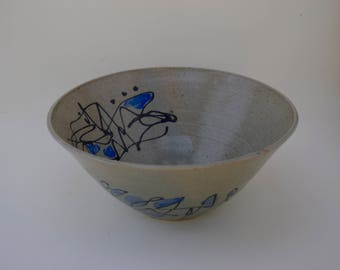 abstract blue bowl