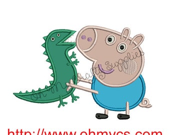 Brother Pig Applique Design