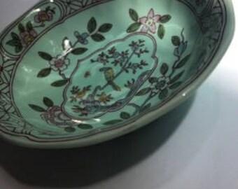 Vintage - Adams English Ironstone Calyx Ware, SINGAPORE BIRD - Bowl