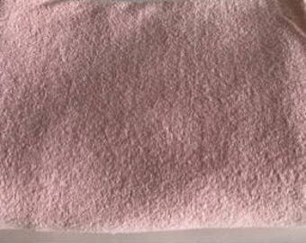 Terry Cloth Fabric - Light Pink - Vintage