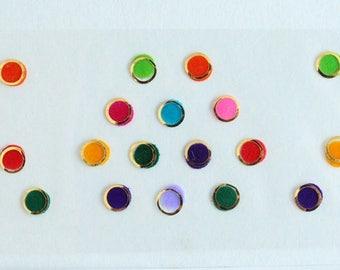 Multicolor Plain Bindi Stickers,Indian Colorful Bindis Sticker,Forehead Stickers, Round Bindi Stickers,Forehead Plain Round Bindis