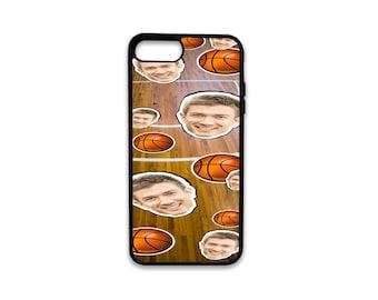 Custom Basketball Background iPhone Case