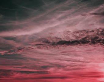 Watergate Bay Pink Sky Large Silk Scarf