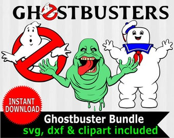 Ghostbusters SVG, Ghostbusters clipart, ghost busters svg, ghostbusters logo, digital download, slimer, puft, marshmallow man, cut file, dxf