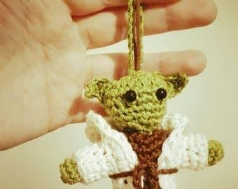 Crochet master yoda keychain