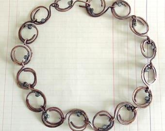 Copper corona necklace