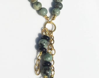 African Turquoise Long Necklace