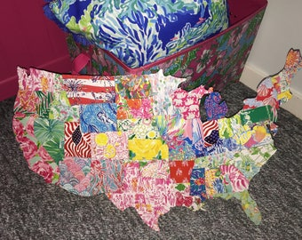 United States map of Lilly Pulitzer