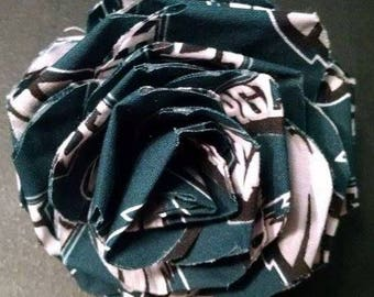 Fabric Rose Barrette Philadelphia Eagles