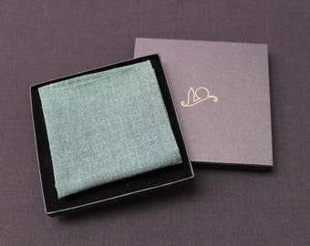 Green Organic Cotton Pocket Square