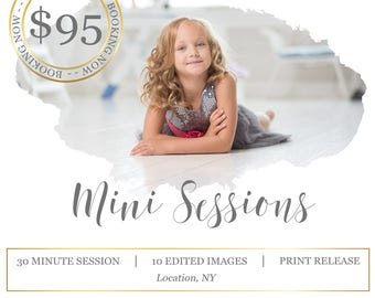 Mini Session Photoshop Template - Digital Marketing for Photographers - Photography Template
