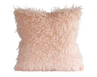 designer pillow cover kdays mongolian faux fur pink pillow cover decorative couch throw pillow case handmade