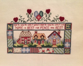 Cross Stitch Finished, Home Sweet Home, Welcome