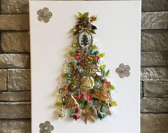 Poinsettia jewelry etsy for Poinsettia christmas tree frame