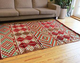 Carpet,Tapis,Teppich, 135x200 cm,4,5'x6,5' ,Area Rug oriental,Floor mat,Kelim,Kilim,Syria,Damaskunst 1-4-23