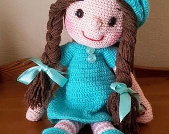 Hand Crocheted Amugurumi Doll