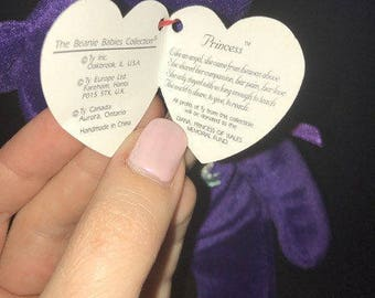 1997 -TY PRINCESS Beanie Baby with Stamp inside Tush Tag - Mint Condition!