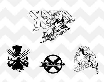 X-Men SVG, Wolverine SVG, x-men bundle svg, bundle, Silhouette, Cricut, Cut File, png, shirt design