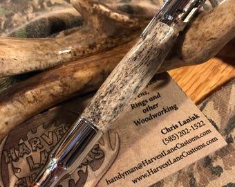 Handmade .30 Cal Bullet Anler Pen
