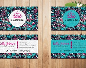 PERSONALIZED Paparazzi Business Card, Custom Paparazzi Accessories Business Card, Fast Free Personalization, Printable Business Card PZ12