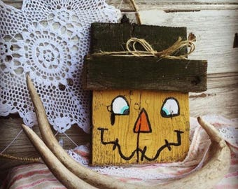 Rustic Scarecrow, Primitive Scarecrow, Hand Painted Scarecrow, Country Scarecrow,Fall Decoration, Wooden Scarecrow, Scarecrow sign