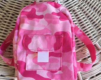 Pink Camo Doll Backpack