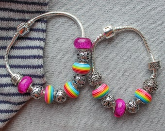 Pandora bracelets for mother and daughter