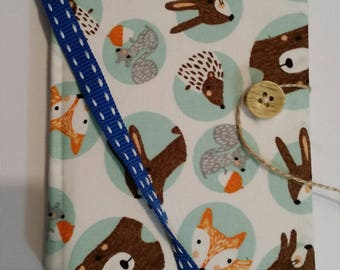 Woodland Animals Fabric Covered Notebook A6