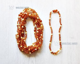 Teething amber necklaces. Wholesale teething amber. Amber necklaces for babies or kids. Natural amber with certificates. 5 pieces. MH3