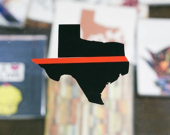 Texas Thin Red Line Decal
